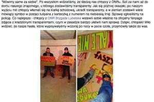 O kradzieży dokonanej przez ONR kobiety informują na Facebooku.