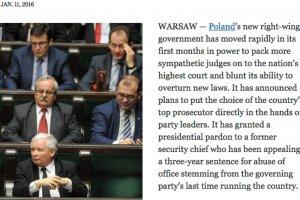 """""""NYT"""" pyta Polaków, co zmieniło się w kraju pod rządami PiS."""