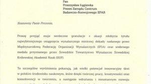 Fragment listu od Beaty Kudryckiej, minister edukacji