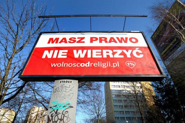 W styczniu tego typu billboardy pojawiły się na ulicach polskich miast.