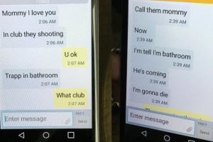 Wstrząsające wiadomości syna do matki podczas strzelaniny w Orlando.