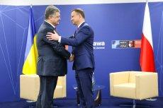 Spotkanie Prezydenta RP Andrzeja Dudy z Prezydentem Ukrainy Petro Poroszenką.