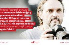 Ministerstwo Finansów wykorzystało zdjęcie ze zagranicznej bazy, a jego bohatera przedstawił jako polskiego fotografa.