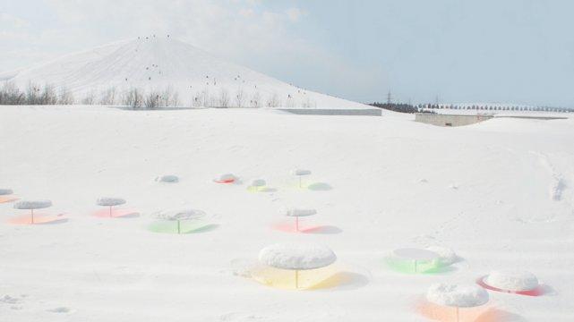 Instalacja śnieżna Toshihiko Shibuyi