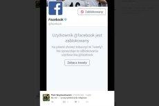 Prawica blokuje konto Facebooka na Twitterze.