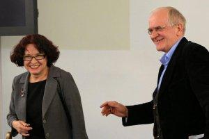 Elzbieta Kruk i Krzysztof Czabanski poslowie PiS podczas posiedzenia sejmowej Komisji Kultury.