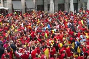 Walia świętuje zwycięstwo nad Belgią.