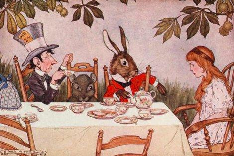 """Jedna z ilustracji do pierwszego wydania """"Alicji w Krainie Czarów"""""""