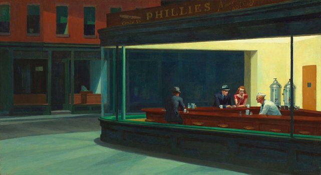 """Nighthawks"" The Art Institute of Chicago"