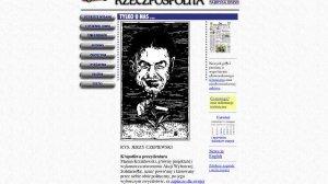 Rzeczpospolita.pl w 1998 roku. Gustowne tło z szablonu i proste guziki