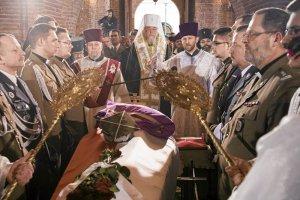 Arcybiskup Sawa nad trumną abp. Mirona Chodakowskiego.