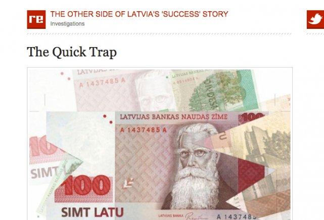 """Artykuł w re:baltica pokazuje """"drugą stronę"""" szybkiego rozwoju szybkich pożyczek na Łotwie"""