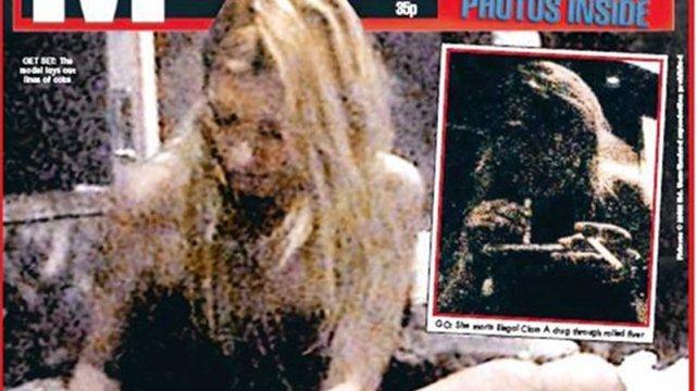 """""""Kokainowa Kate"""" na okładce Daily Mirror"""