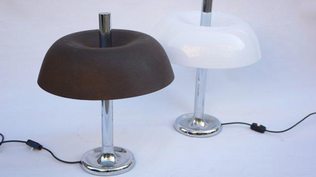 Lampy stołowe, negatyw i pozytyw