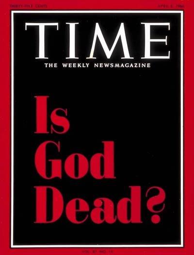 """Okładka magazynu """"Time"""", który przedstawił myślicieli postulujących tworzenie teologii bez boga"""