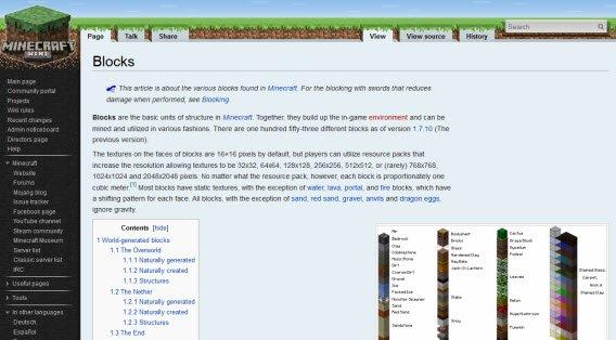 Na oficjalnej wiki Minecrafta znadziesz odpowiedzi na niemal wszystkie pytania (po angielsku)