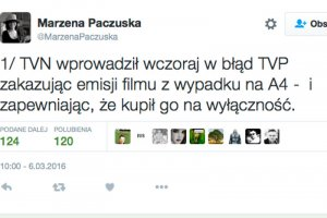 """Szefowa """"Wiadomości"""" napisała,że konkurencyjna stacja wprowadziła TVP w błąd."""