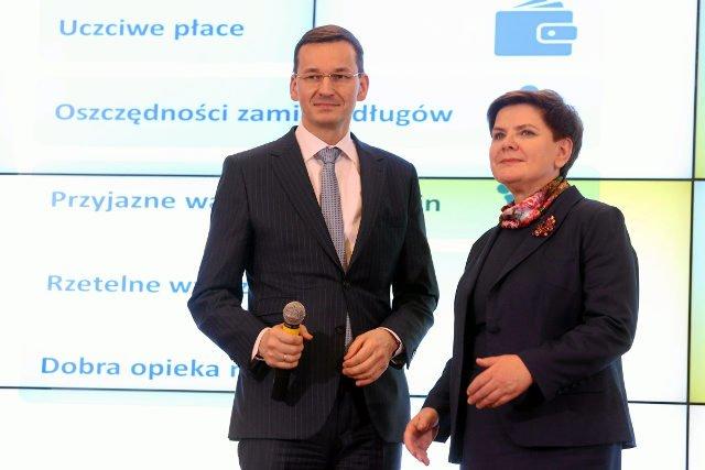 Beata Szydło i Mateusz Morawiecki przedstawiają plan rozwoju
