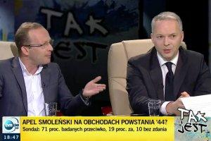 Jacek Żalek nie widzi powodu, dla którego podczas obchodów wybuchu Powstania warszawskiego apel smoleński ma nie być odczytany.
