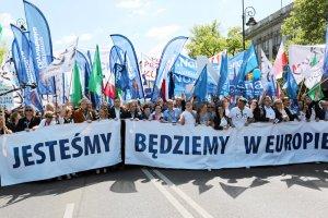 KOD i inne formacje opozycyjne zostały na sobotnim marszu zdominowane przez Platformę Obywatelską.