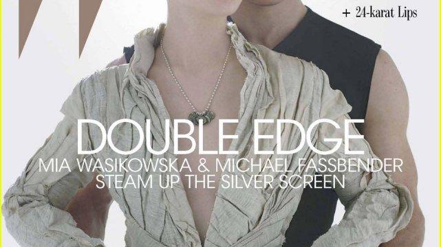 """Mia Wasikowska i Michael Fassbender na okładce """"W"""""""